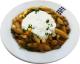 Schupfnudel-Kürbis-Champignon-Pfanne mit Hirtenkäse-Quark-Dip